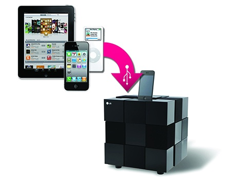 LG iPod, iPhone a iPad direct Docking Cube