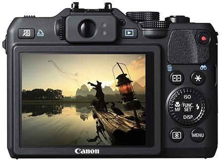 Canon PowerShot G15 - displej a hledáček