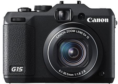 Canon PowerShot G15 en face