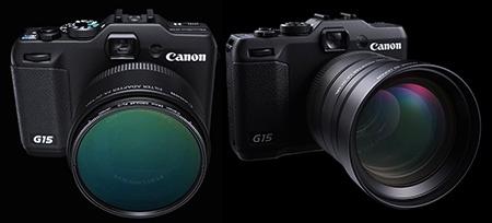 Canon PowerShot G15 a optické příslušenství