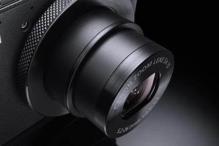 Canon PowerShot S110 - detailní pohled na objektiv