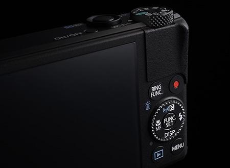 Canon PowerShot S110 - multifunkční volič a tlačítka včetně samostatného pro video