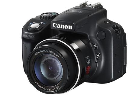 Canon PowerShot SX50 HS - klasický 3/4 pohled z mírného nadhledu