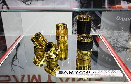 Zlatá kolekce Samyang na výstavě Photokina 2012