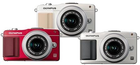 Olympus PEN Mini E-PM2 - další tři barvy: bílá, stříbřitá a červená