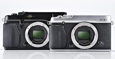 Fujifilm X-E1 ve srovnání s modelem X-Pro1