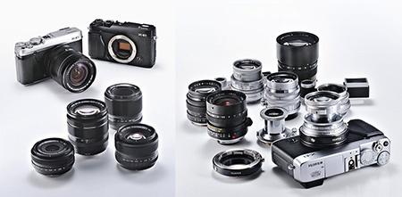 Fujifilm X-E1: nabídka objektivů Fujinon XF a via adaptér také s bajonetem M