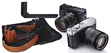 Fujifilm X-E1 - ukázky příslušenství: madlo HG-XE1 a pouzdro BLC-XE1