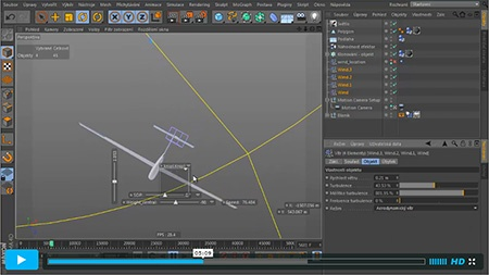 CINEMA 4D - aerodynamika