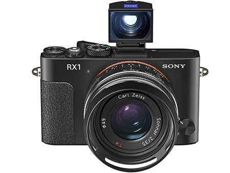 Sony RX1 + optický průhledový hledáček + sluneční clona