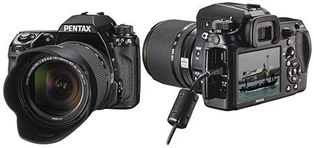Pentax K-5 II a K-5 IIs - objektiv se sluneční clonou a připojení
