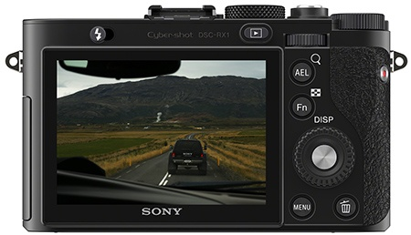 Sony Cyber-shot RX1 - displej a zadní stěna