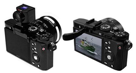 Sony Cyber-shot RX1 - přípojná opěrka a opěrka + hledáček