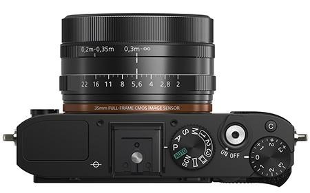 Sony Cyber-shot RX1 shora: přepínač objektivu