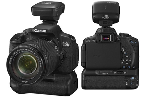 Canon EOS 650D - ukázka nabídky příslušenství EOS