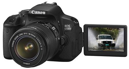 Canon EOS 650D - výklopný a otočný displej