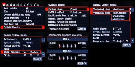Canon EOS 650D - LCD: režimy a funkce blesku II