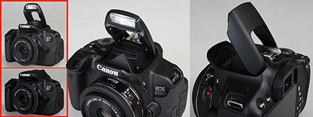 Canon EOS 650D - výklopný blesk