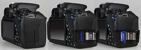 Canon EOS 650D - slot pro paměťové karty