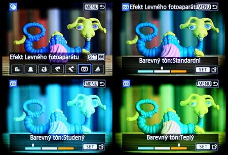 """Canon EOS 650D - LCD: efekt """"dětského fotoaparátu"""""""