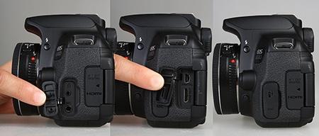 Canon EOS 650D - konektory