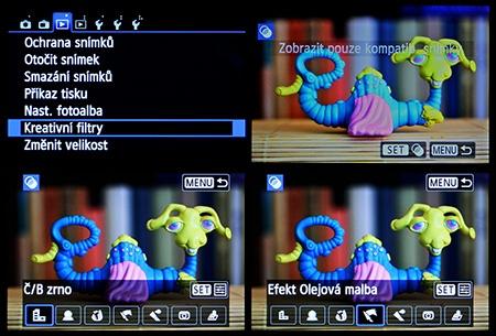 Canon EOS 650D - LCD: digitální efektové filtry