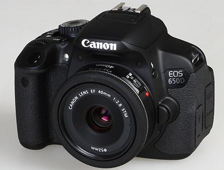 Canon EOS 650D - shora a zepředu