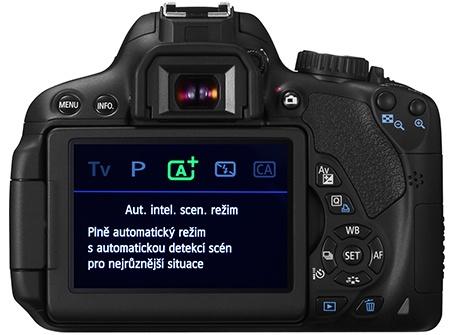 Canon EOS 650D - displej a zadní stěna