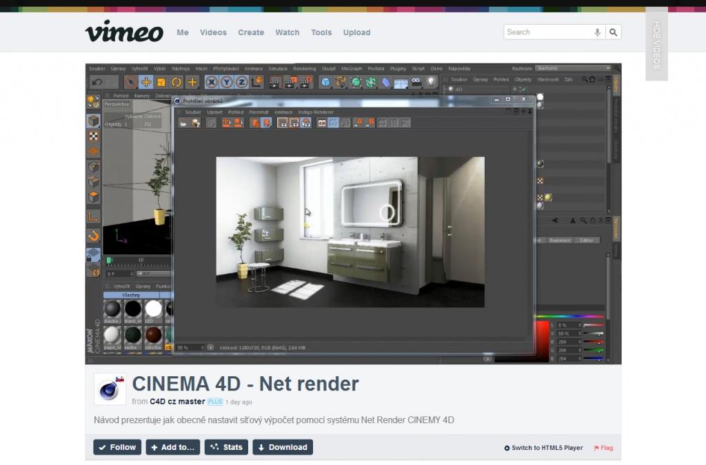 Как сделать рендер фрагмента в cinema 4d