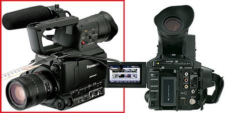 Panasonic AG-AF101A - s mikrofonem a zezadu