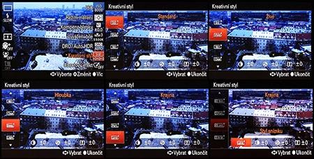 LCD: tvůrčí styly