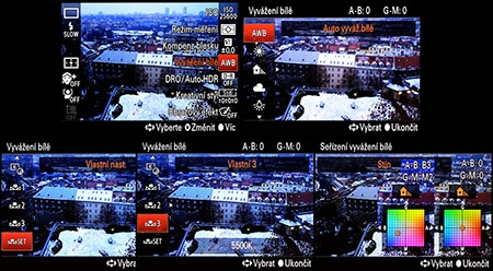 LCD: wb - možnosti