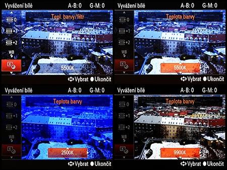LCD: wb - teplota chromatičnosti