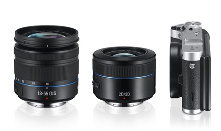 2D/3D 45mm objektiv s NX300 a zoomem 18-55 OIS