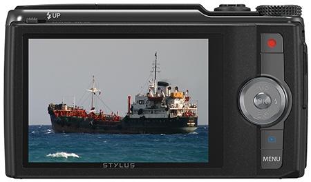Olympus Stylus SH-50 - zadní stěna s displejem