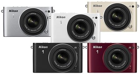 Nikon 1 J3 - barevné varianty