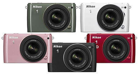Nikon 1 S1 - barevné varianty