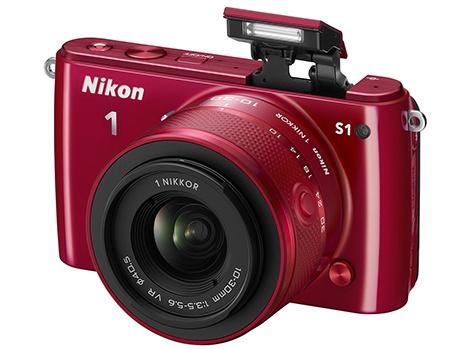 Nikon 1 S1 - vyklopený blesk