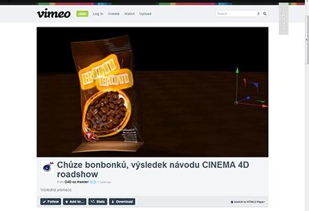 CINEMA 4D - pytlik na bonbony II - IV