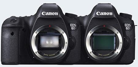 Canon EOS 6D bez nasazeného objektivu