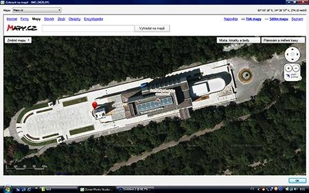 GPS data a zobrazení pomocí aplikace Mapy.cz