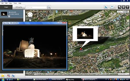 Canon Map Utility 1.4 - možnosti