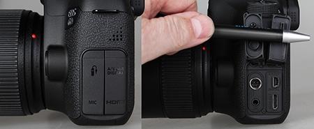 Canon EOS 6D - konektory