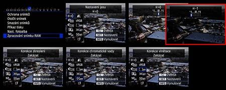 zpracování souborů RAW ve fotoaparátu