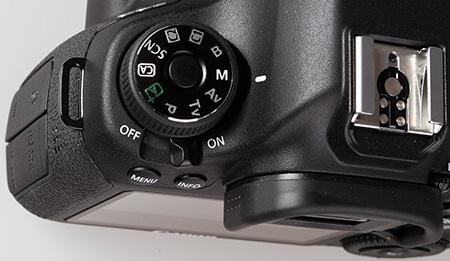 Canon EOS 6D - otočný volič režimů