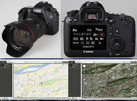 Canon EOS 6D s jednotkami Wi-Fi a GPS