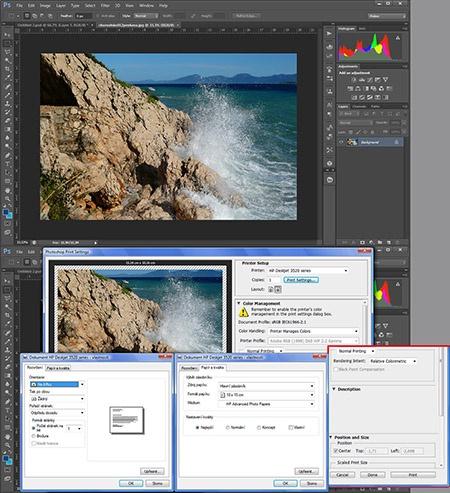 tisk z programu Adobe Photoshop CS6