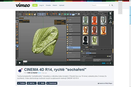 CINEMA 4D R14, sculpting (1) - I