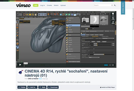 CINEMA 4D R14, sculpting (1) - III