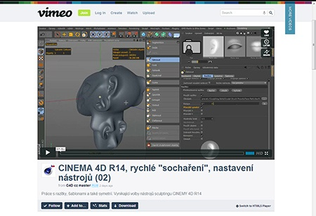 CINEMA 4D R14, sculpting (1) - IV